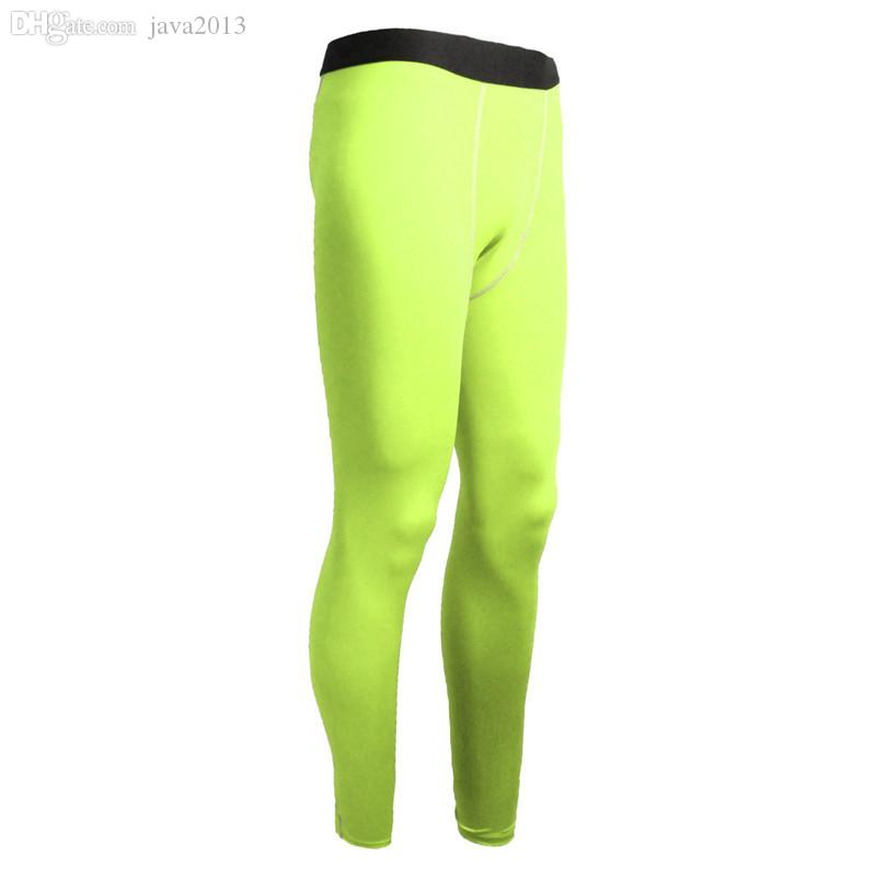 Wholesale-Mens Football Compression Long Pants Sports Underwear Base Layers Tights Gym Trouser Running Yoga exercise fitness dance dresses