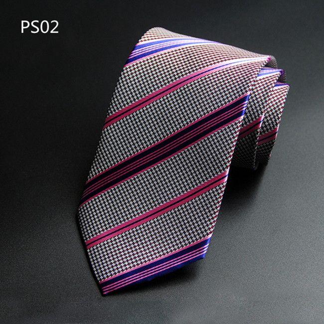 Yeni Lüks Erkek Marka Örgün İş Düğün Klasik erkek Paisley Kravatlar 8 cm Ipek Boyun Kravat Aksesuarları Erkekler Yenilik Mor Kravat Sıcak