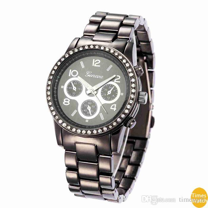 Feminino Genebra Diamante Relógios homens Vestido Relógios Rose Gold Roman Dial Quartz presente de Natal Horas de qualidade padrão Clássico