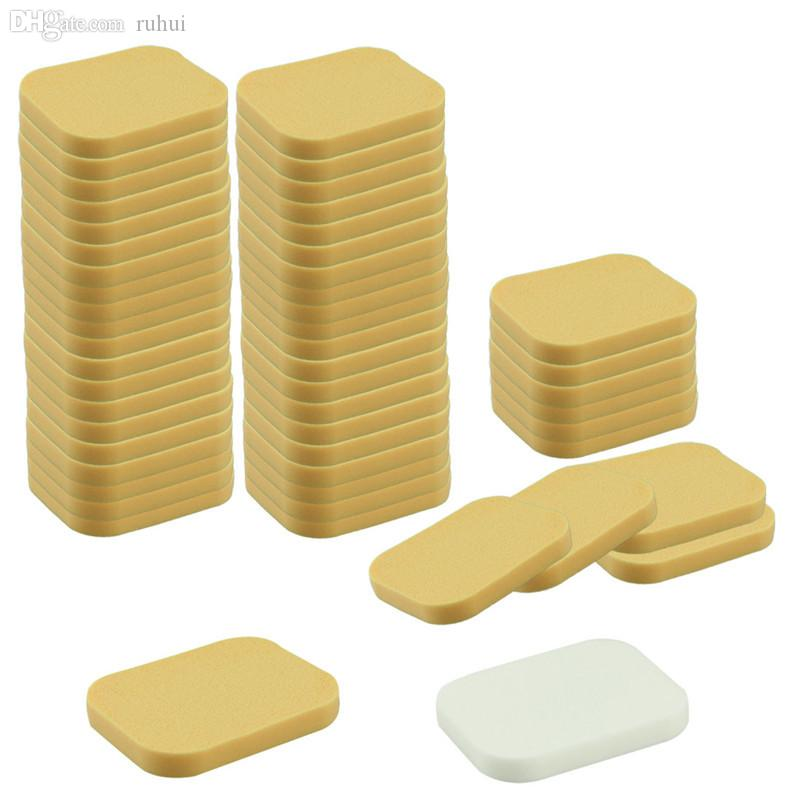 Wholesale-A Stylish 2015 high quality 50Pcs/Lot New Facial Face Sponge  Cosmetic  Puff for women