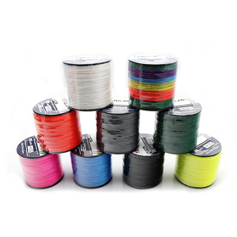 500m 4 Strand Braid Fishing Line Spectra Ocean Rock lines PE wire Fiber From Japan 15lb~80lb Message color