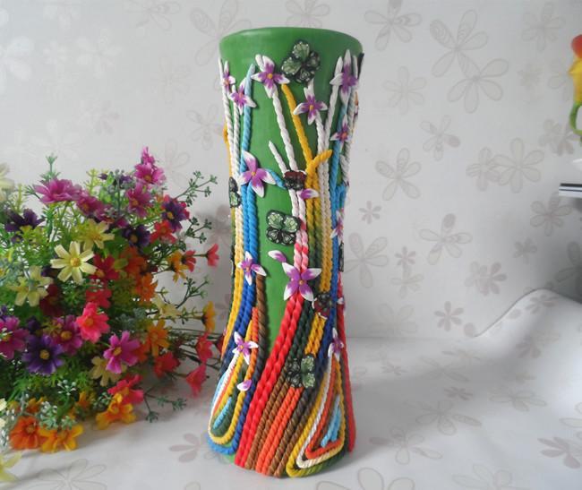 Handmade Ceramic Pottery Clay Vase Flower Ornaments Holiday