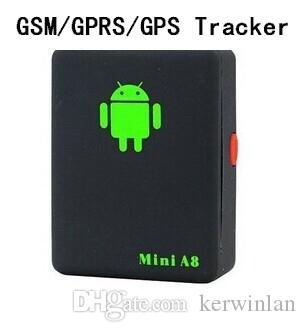 مصغرة العالمي لتحديد المواقع في الوقت الحقيقي لتحديد المواقع المقتفي مصغرة A8 GSM جي بي آر إس تتبع نظام تحديد المواقع تتبع من خلال الهاتف الذكي للأطفال الحيوانات الأليفة سيارة