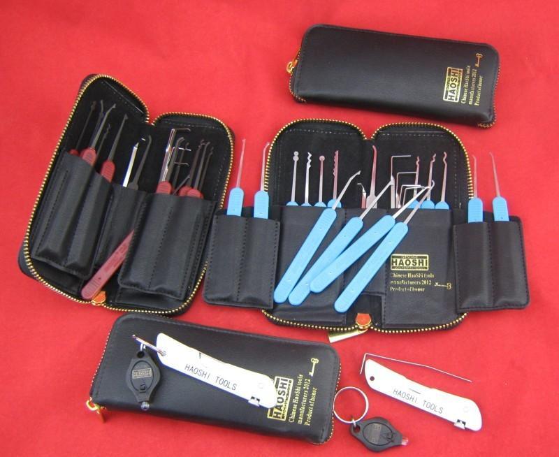 HAOSHI 21 ADET Paslanmaz Çelik / Bahar Çelik Kilit Açma Picklock Araçları Kilitler Çilingir Araçları Kilidi Seçim
