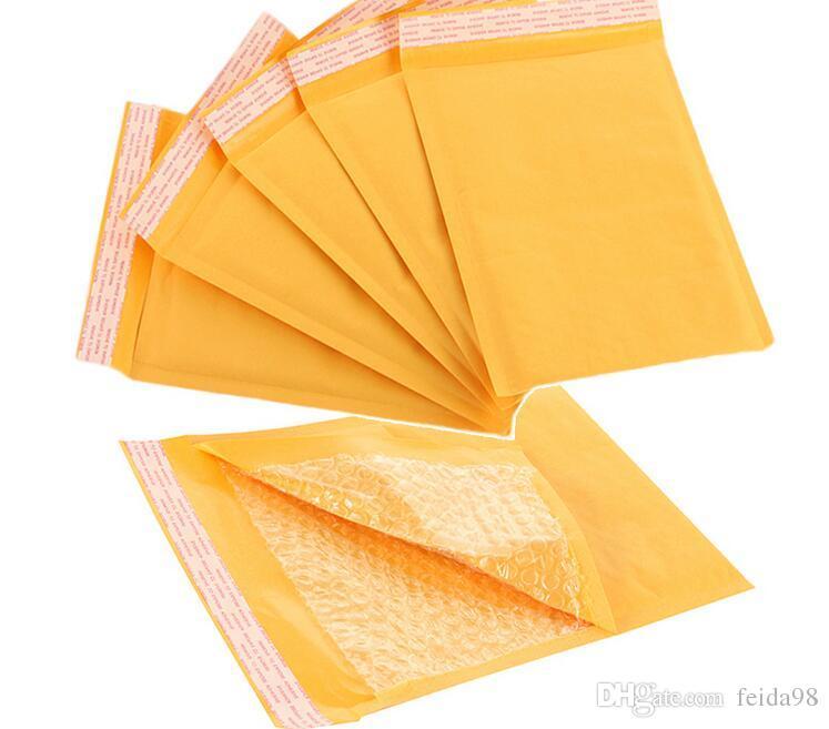 150 * 180mm Kraft Papier Bańka Koperty Torby Mailerów Wyściełana Wysyłka Koperta Z Bubble Mailing Bag Business Supplies G1168