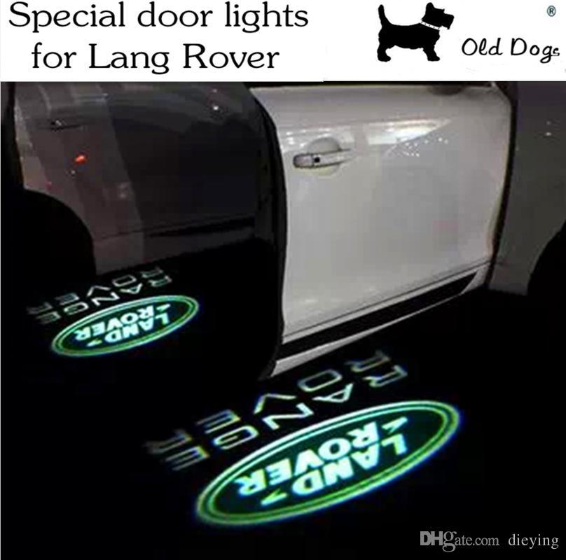 Lumi/ère de bienvenue de voiture 4PCS de porte de voiture Projecteur LED Porte Ombre Bienvenue Lumi/ère fant/ôme Courtoisie Logo Lampes for Land Rover Range Rover Discovery 3 4 Freelander 2
