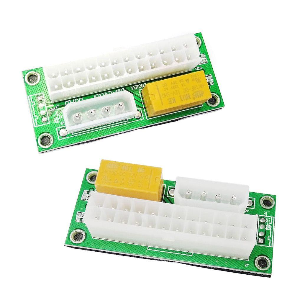Connectors ATX24Pin Dual Power Synchronous Supply Adaptor Cable Start Board Multiple add2PSU Connector Relay Rele Adapter 12inches Cable Length: 24pin ATX Connector