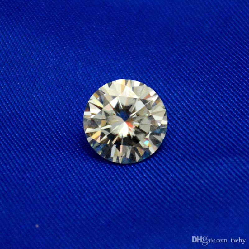 Most Brilliant E/F Color VVS1 4mm White Moissanite Stones Synthetic Loose Moissanite Gemstone Beads Diamond Test Positive