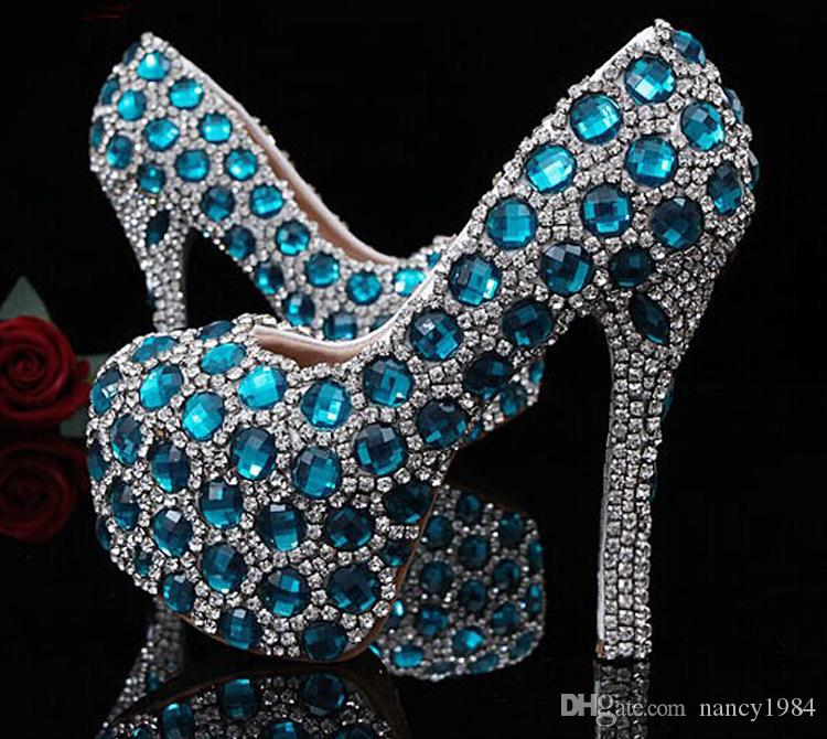 Beautiful Fashion Custom Made Pink Wedding Shoes for woman Rhinestone Bridal Dress Shoes Lady High Heel Party Prom Shoes