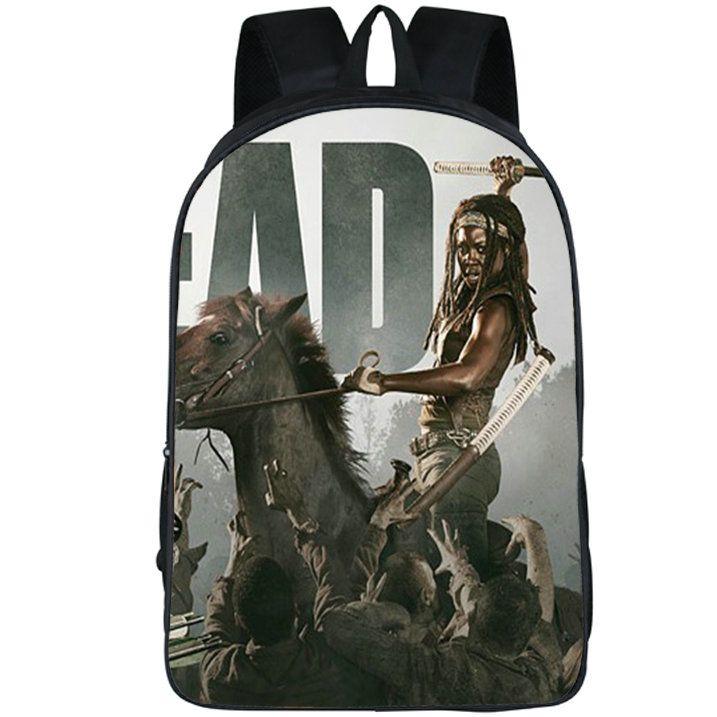 Michonne backpack The walking dead daypack Sword girl schoolbag Teleplay rucksack Sport school bag Outdoor day pack