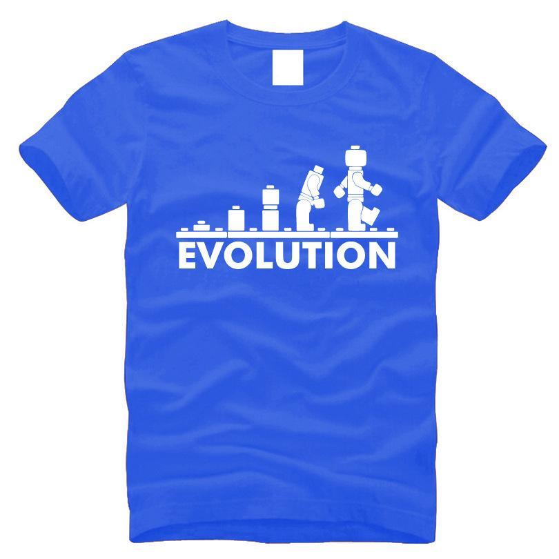 Оптовая продажа-2016 новое поступление смешная футболка мужская круглый вырез с коротким рукавом футболка печать эволюция рубашки мужчины лето 100% хлопок S-3XL, MA015