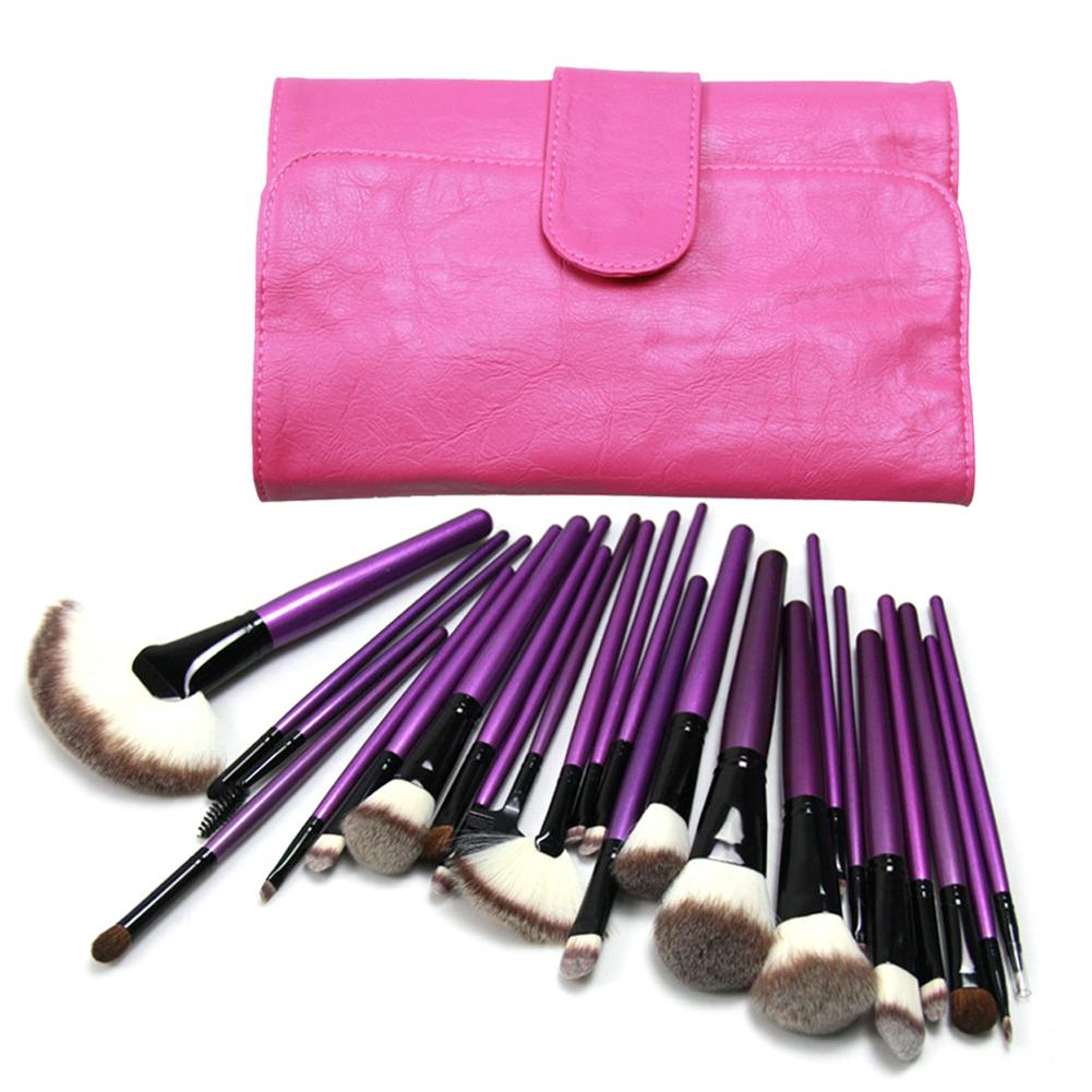 24pcs/Pack Makeup Brushes Set Big Fan Brush Powder Blush Foundation Eyeshadow Eyeliner Lips Brush Cosmetic Brushes Kit