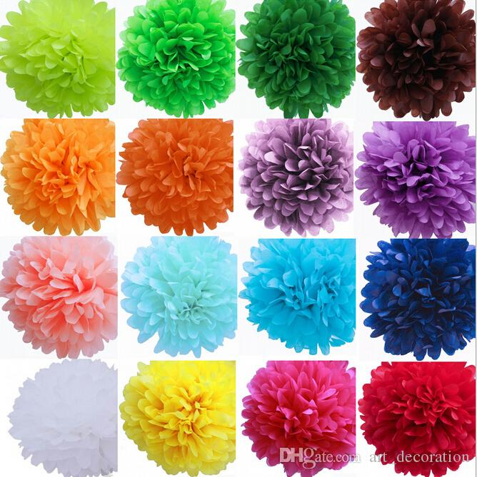 2018 8 sizes 26 clolors tissue decorative paper flowers ball craft 8 sizes 26 clolors tissue decorative paper flowers ball craft paper flowers pom poms for christmas mightylinksfo