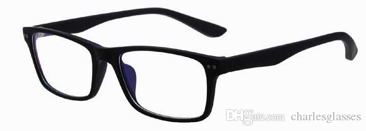 Einzelhandel 1 stücke mode marke gläser rahmen bunte kunststoff optische brillen rahmen in recht gute qualität