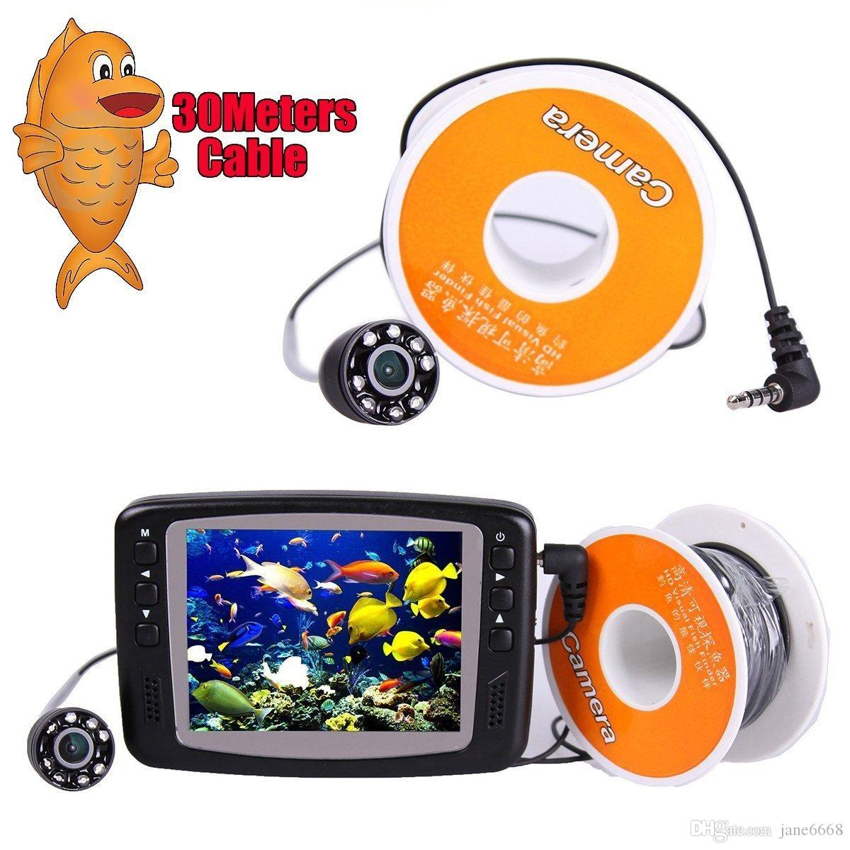 2016 New Arrival 8 IR LED 800TVL 4.3'' Color LCD Monitor Underwater Ice Video Fishing Camera System 30m Cable Visual Fish Finder