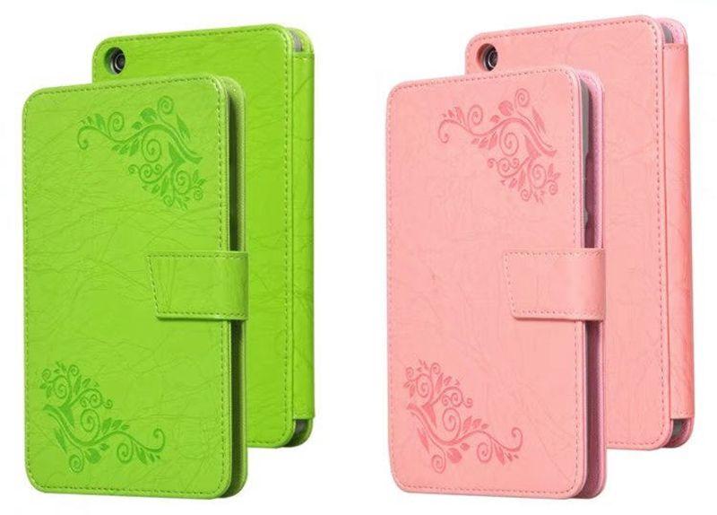 Print Flower PU Leather Case Cover for Huawei Mediapad T3 7 7.0 WIFI BG2-W09 Tablet Hand Holder Grip Shell + Stylus Pen 30pcs