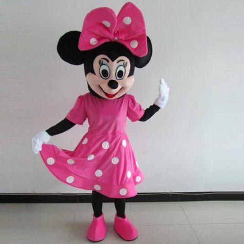 Minnie Mouse Christmas Dress.New Christmas Pink Minnie Mouse Cartoon Character Mascot Costume School Fancy Dress Costumes Halloween Costumes Mascot Mascot Costumes Kids From