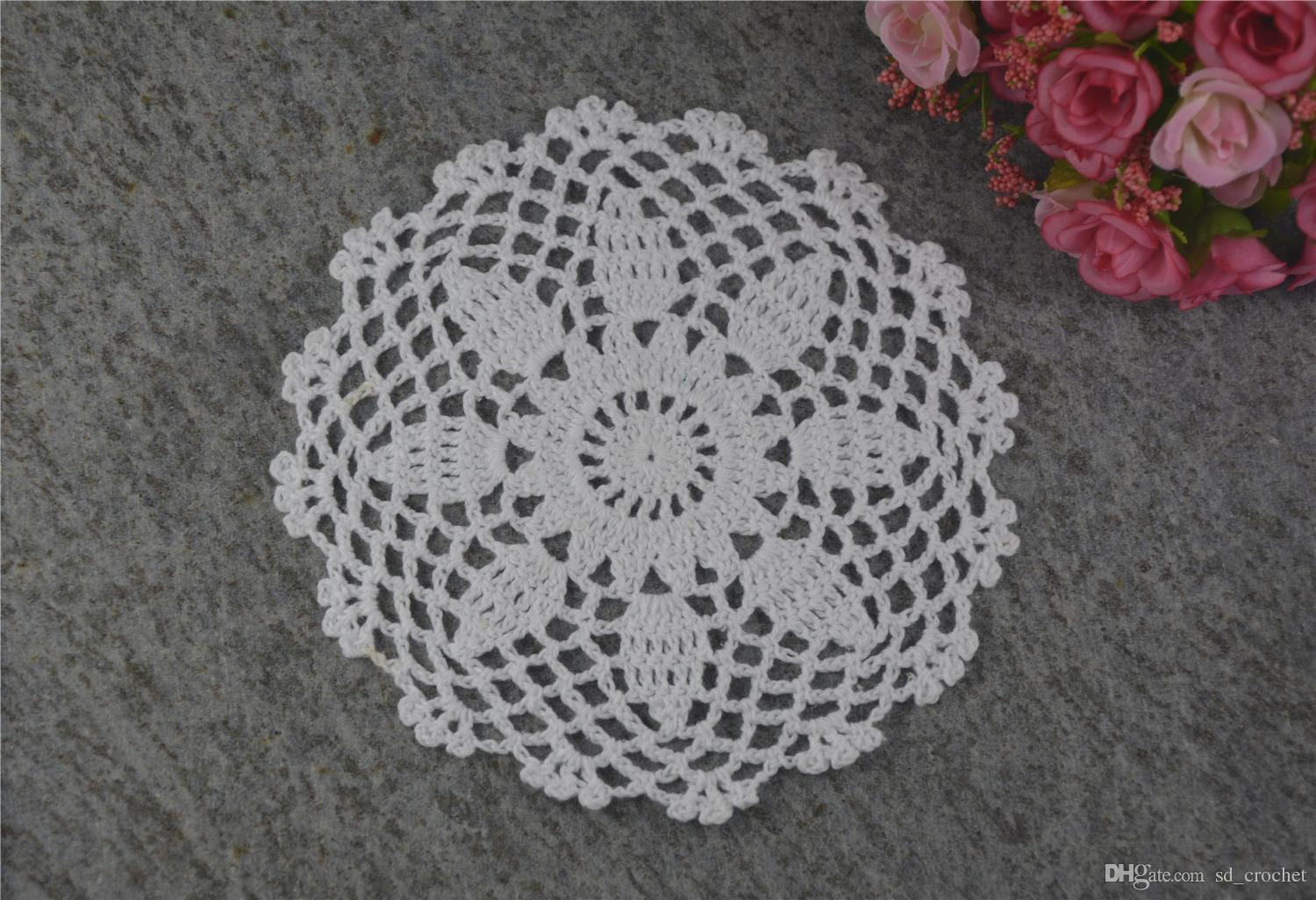 DIY Design Wedding Handmade Crochet Coasters Doily Placemats Crocheted Doilies Size 6 inches 30 PCS/ LOT Custom Color _DSC0101