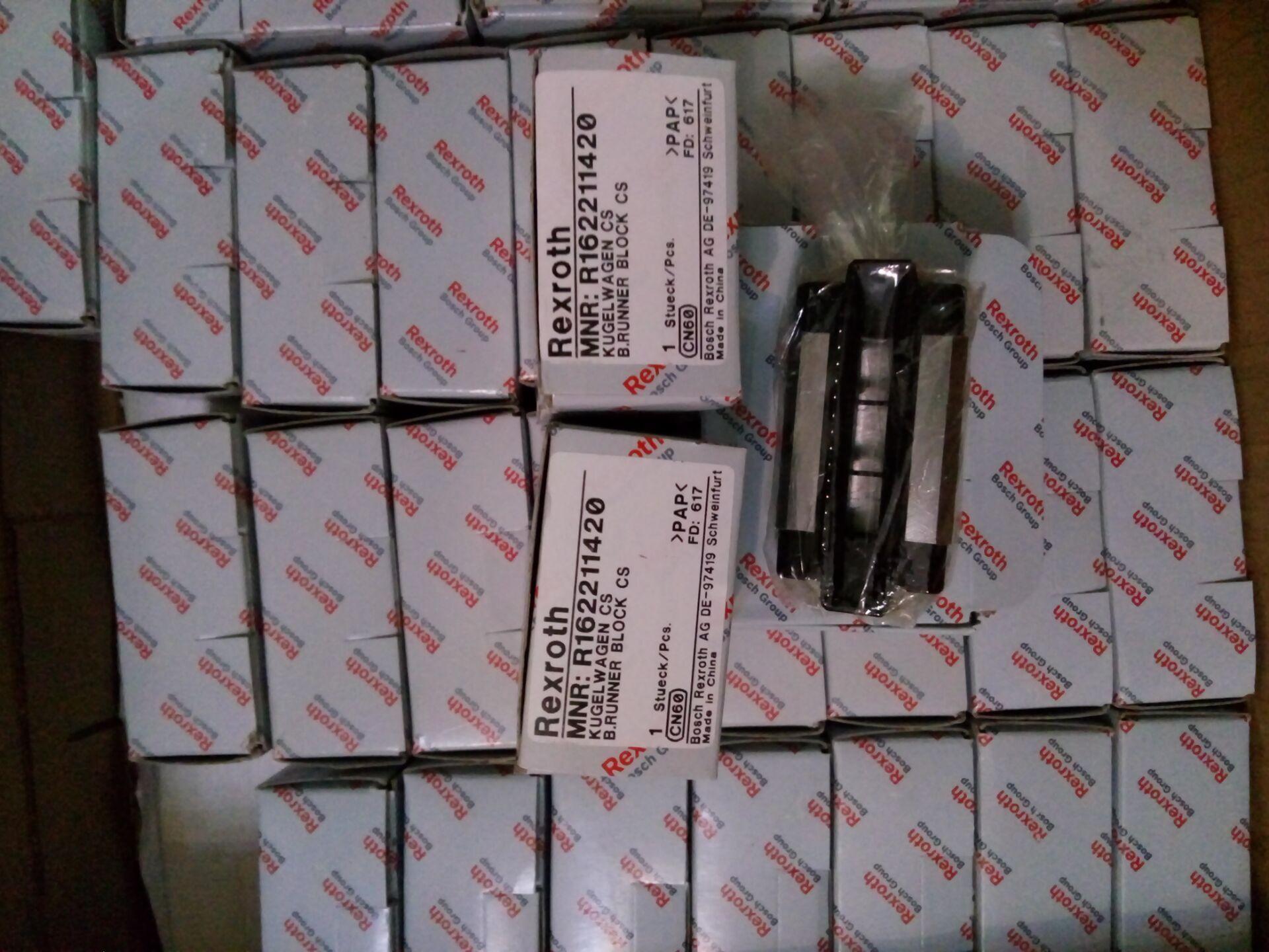 선형 베어링 Rexroth Runner 블록 R162211420 고 강성 선형 가이드 세트 선형 러너 블록 레일 슬라이더