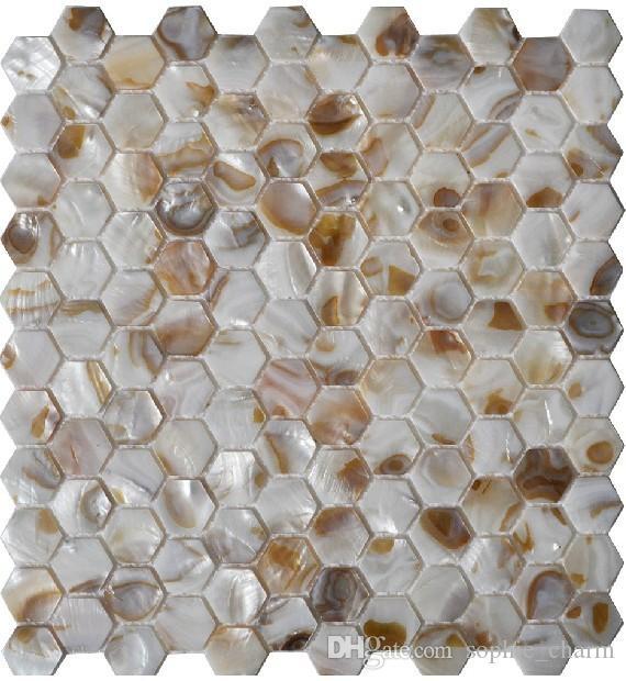 Hexagon Mother of pearl tile backsplash shell mosaic tiles MOP031 natural seashell mosaic bathroom wall tile