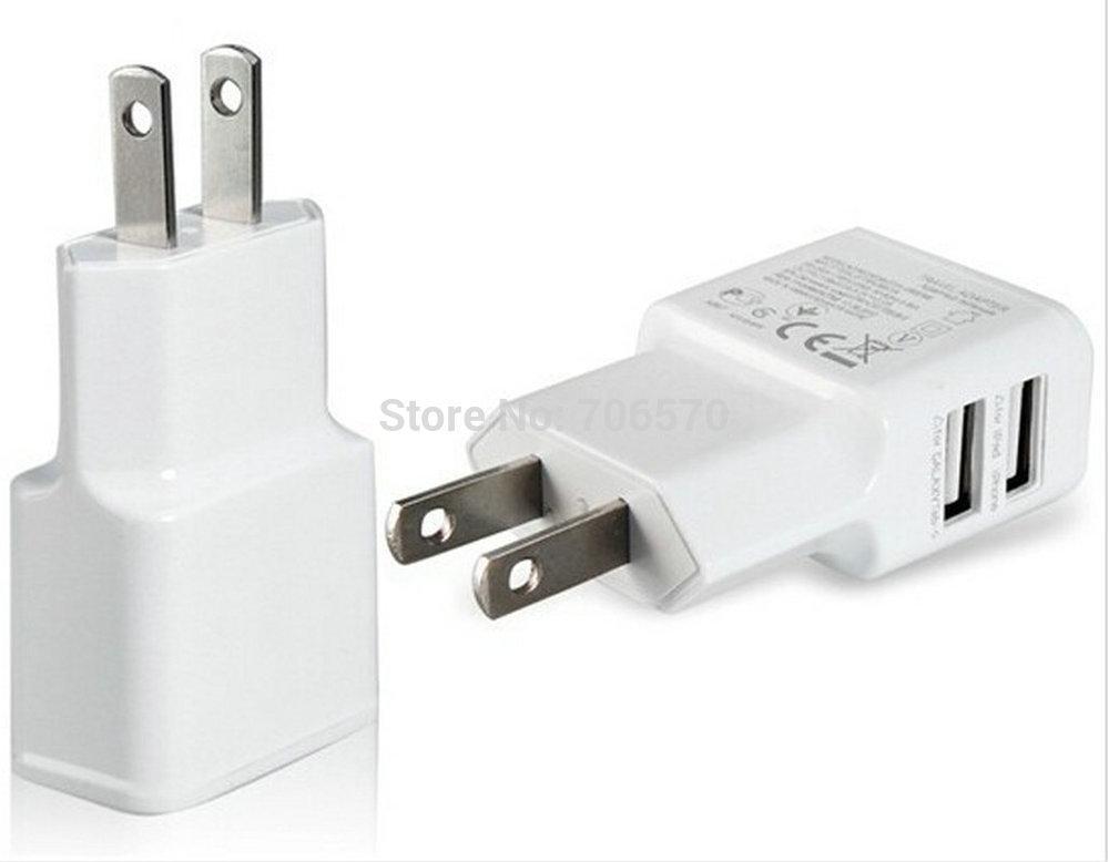 Mit Real-Tracking-Nummer 5V-2A Dual-USB-Ports US-Ladegerät Adapter USA AC-Ladegeräte für Samsung für iPhone für HTC für MOTO