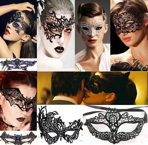 Sexy Halloween Masquerade Venetian Party Half Face Máscara de encaje Lily Woman Lady Mask para Navidad Disco