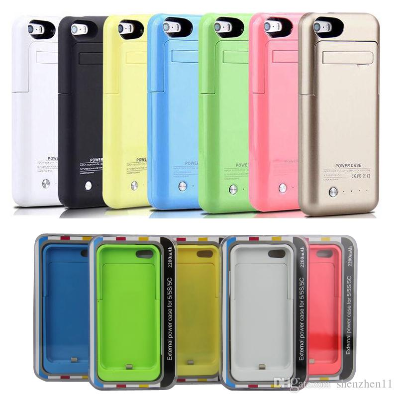 new arrivals 89c8b 6df91 Iphone 5 5s Battery Case 2200mah External Backup Battery Charger Case  Portable Power Charger Case Colorful Rechargeable Battery BAC015 Charging  Mat ...