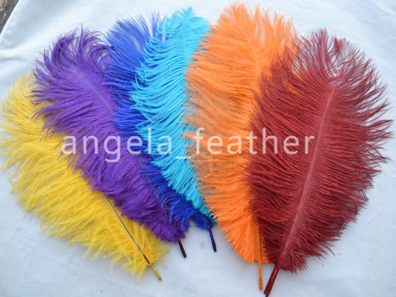 Free Shipping 200pcs/lot Brown Ostrich Feather Plumes 12-14inch/30-35cm for Wedding centerpieces Party Festival supplies