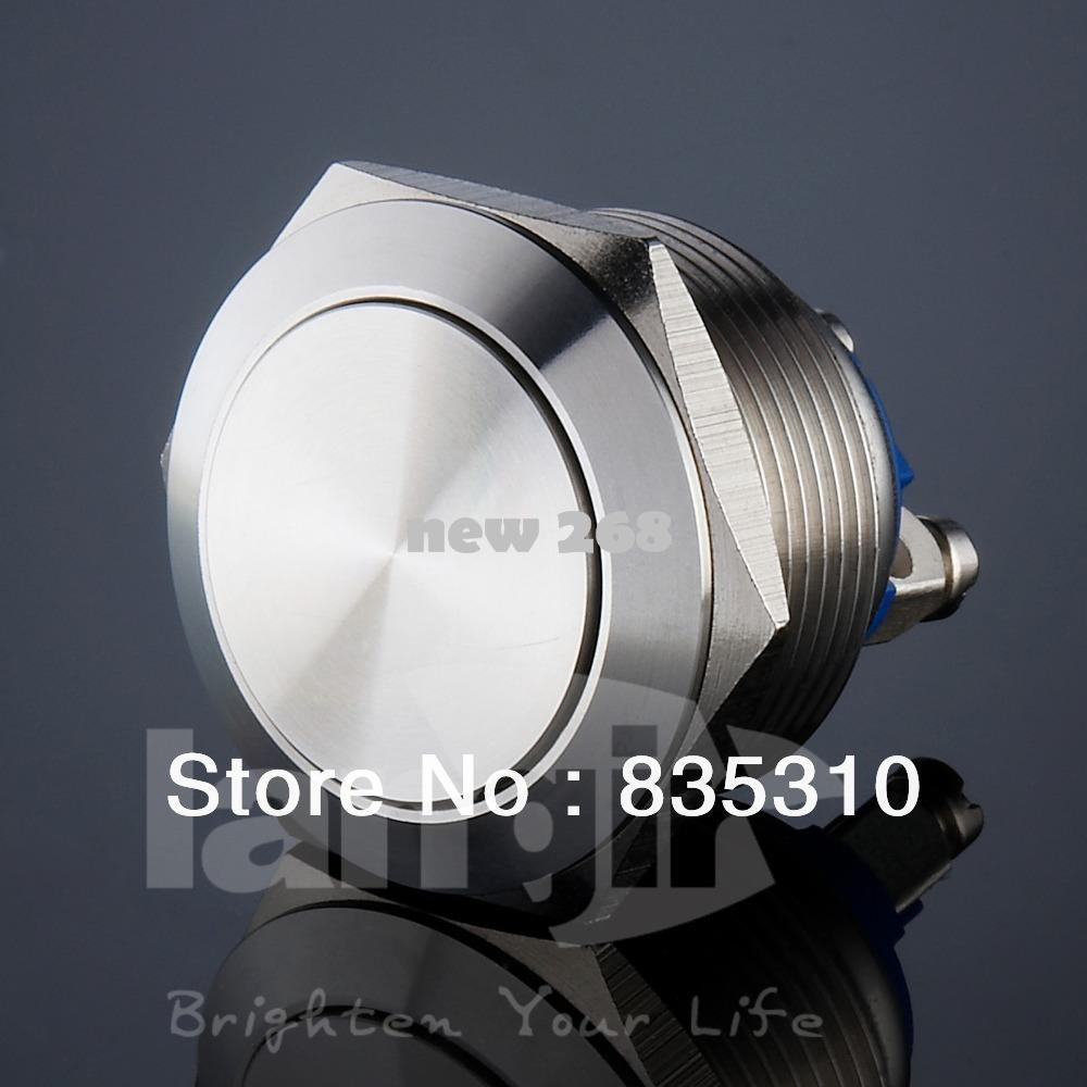 22mm Vandal resist push button switch V22 series momentary waterproof