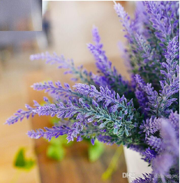 Artificial Lavender Bunch Silk flowers Lavenders For Wedding Party Home Decorative flowers free shipping lavender artificial