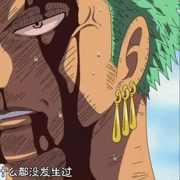 One Piece Roronoa Zoro Anime Cosplay Ear Clip Cuff Earrings Zoro Cos Earrings