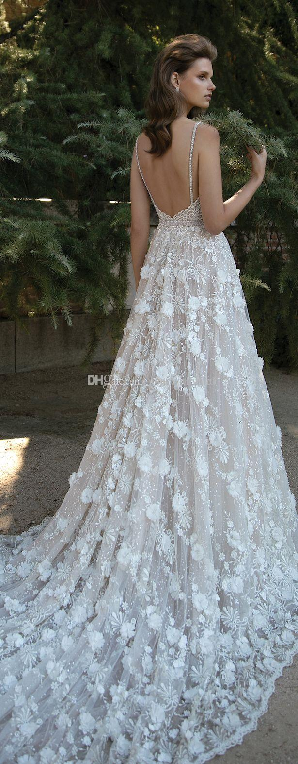 Discount 3d Floral Appliques Princess A Line Wedding Dresses 2016 ...