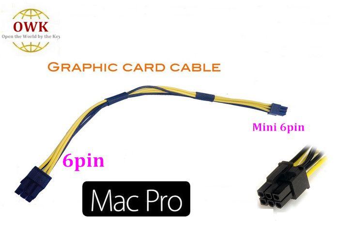 Livraison gratuite Mac Pro / G5 mini 6pin à pci-e câble d'alimentation carte vidéo 6pin pour 4800 4870 quadro4000 FX4