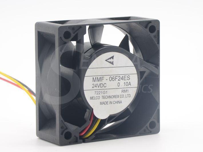 새로운 원본 Melco 60mm MMF-06F24ES RM1 60mm DC 24V 0.1A 인버터 냉각 팬