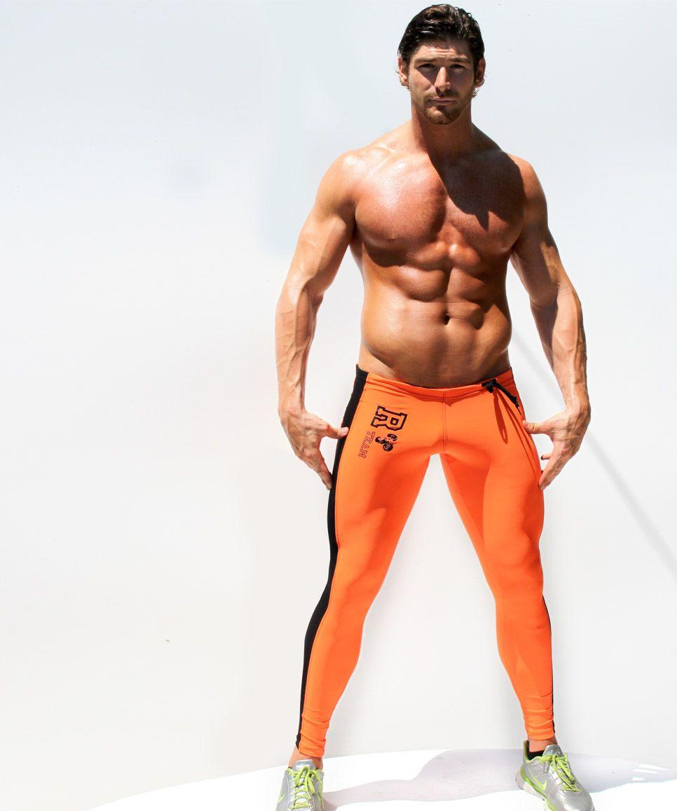 # AQ09 Mannen Kleding Mode Elastische Strakke Low-Taille Sports Running Athletics Gym Training Training Pak Broek Broek
