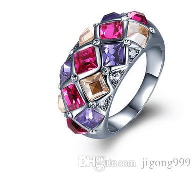 duas cores diamante pcs anel da senhora todo o tamanho (yt-jd) ddfgdg