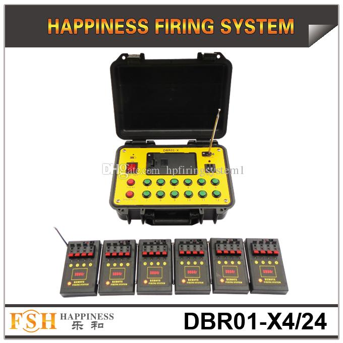FedEX / DHL Envío gratis, un juego / lote, sistema de disparo remoto de 500M, con sistema de disparo de fuegos artificiales de batería de 24 señales, sistema de fuego pirotécnico, en venta