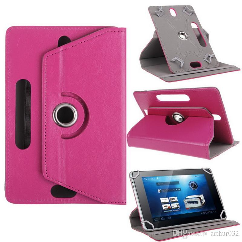 Best 360 Degree Rotate Universal Android Tablet PC Leather Case Protective Stand Cover Tab Fold Flip Cases Built-in Card Buckle 7 8 9 10''