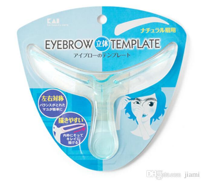Mode Vente au détail Emballage Blister Carte vente chaude beauté maquillage Magic T Forme Règle dessin outils à sourcils