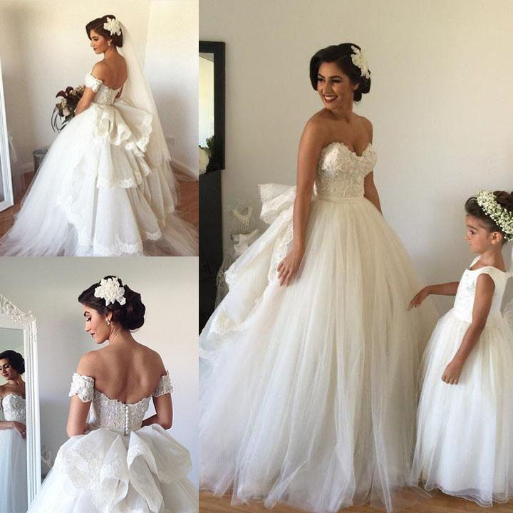 2015 Trends Princess Ball Gown Wedding Dresses with Detachable Train ...