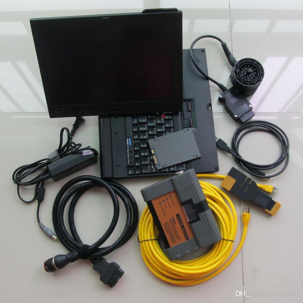 2018.12 ista-d ista-p modo expert para bmw icom a2 b c sd s-sd super velocidade em x200t laptop pronto para trabalhar