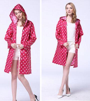 جديد نقطة سفر النساء السيدات فتاة ركوب الملابس المعطف المعطف جيب مقنعين الركبة طويلة المطر النايلون TY1110