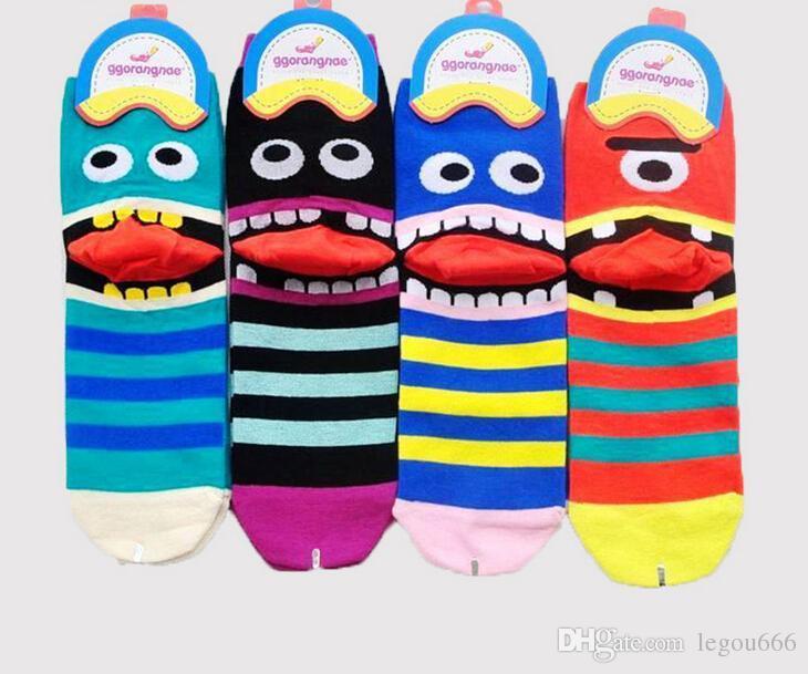 Todas las ventas de dibujos animados lindo Calcetines divertidos mujeres 3Dprinted calcetín de las mujeres de alimentos Calze Donna calcetines lindos para mujeres chausette femme TZX189