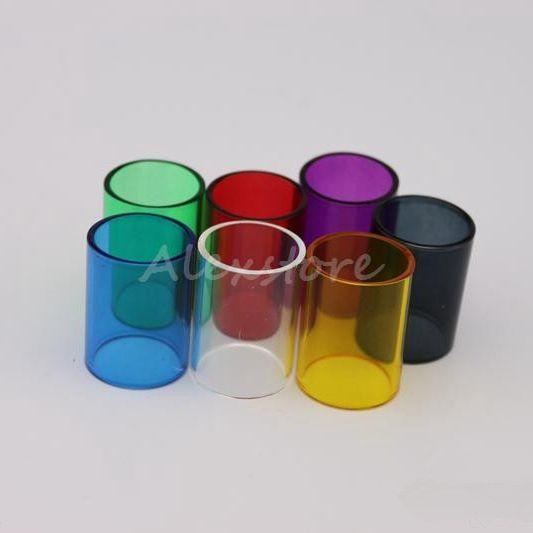 Subtank Mini Pyrex Glass Tube Replacement Colorful Replacable Changeable Caps for Kanger Kangertech Sub tank Mini RBA Atomizer DHL Free