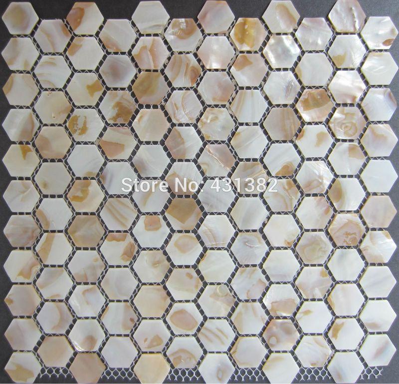 Hexagon tile pearl, kitchen backsplash tile , bathroom shower mosaic wall tile