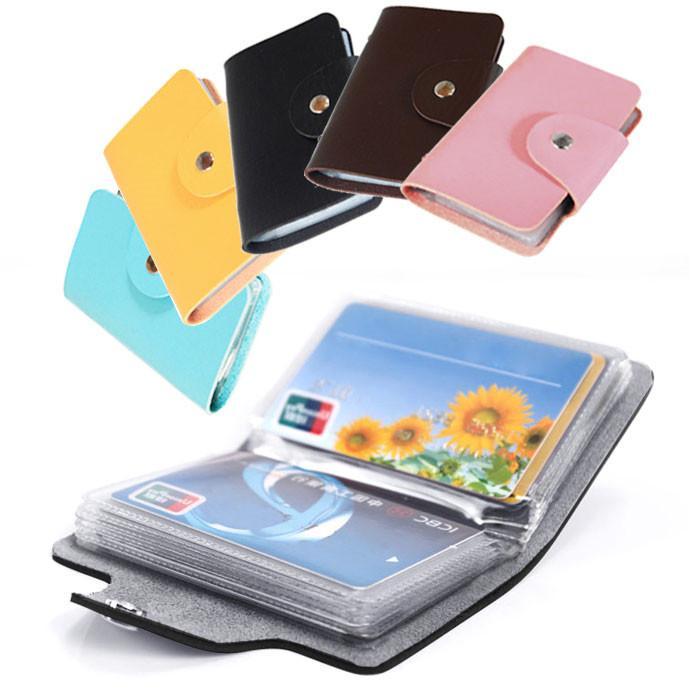 Men/'s 24 Cards Slim PU Leather ID Credit Card Holder Pocket Case Purse Wallet