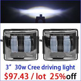 2pcs 30W Led Work Light Driving Fog Beam Worklight Off Road Offroad Car Auto Light 12V Driving Fog SUV 4WD Boat Truck Motorcycle