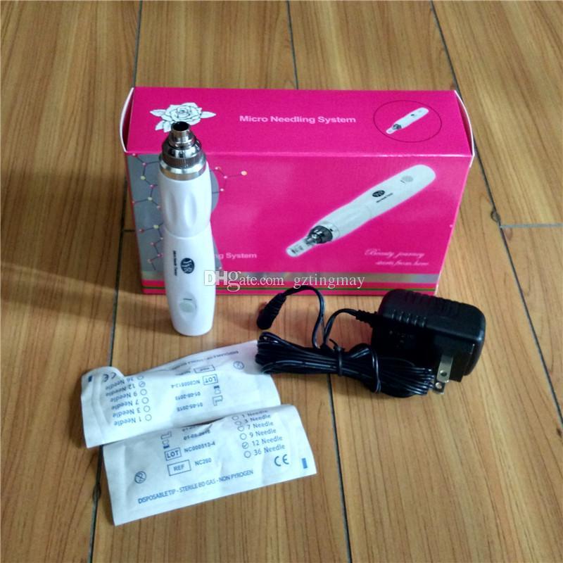 2014 Nyaste Portable Wireless Rechargable Yyr Derma Pen GZ20 med 52PCs extra nålpatroner för ersättning-gztingmay