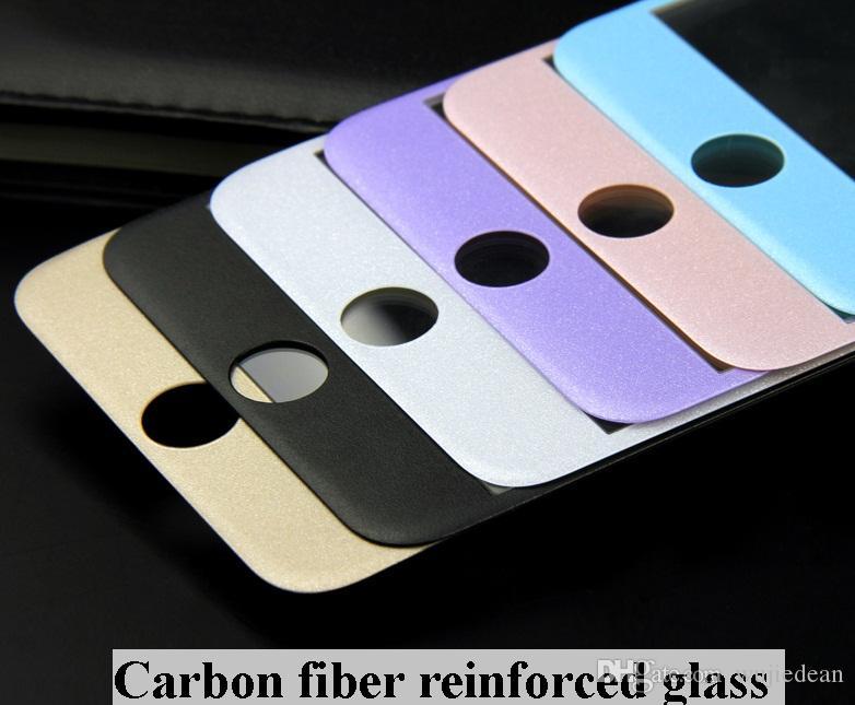 Углеродного волокна 3D круглый край протектор экрана падение доказательство HD ясно баллистического стекла закаленное стекло для iPhone 6G