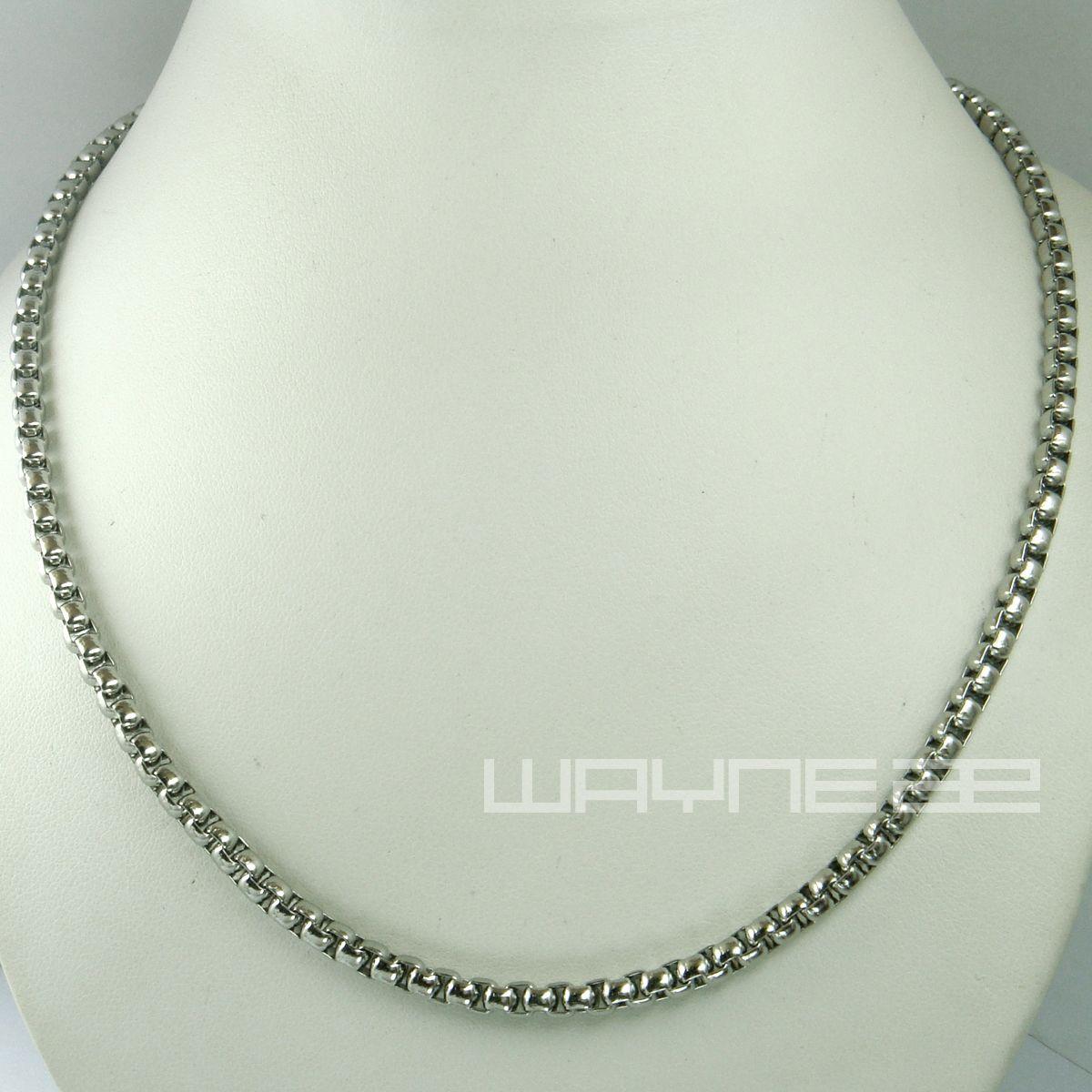 Witgoud gevuld 50 cm lengte 3.8mm dikke ring link ketting n240